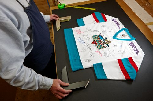 Acorn Framing - signed Belfast Giants shirt