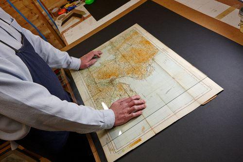 Acorn Framing - framing old historic maps of Belfast