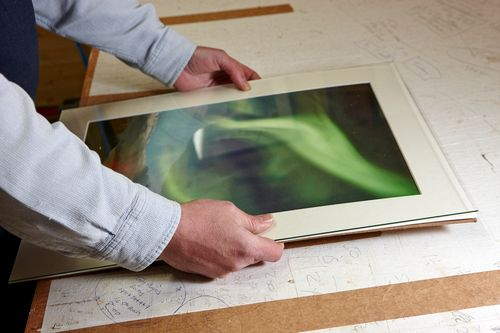 Acorn Framing - assembling the photo mount and glass