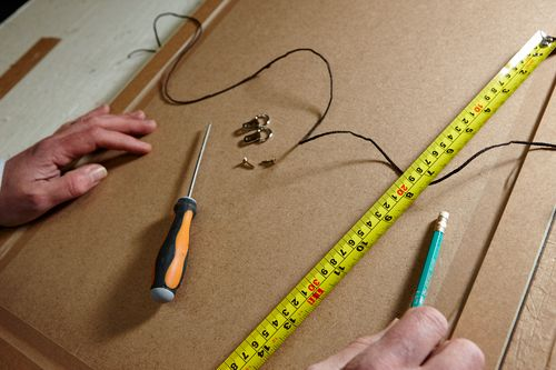 Acorn Framing - measuring frame hanging cord