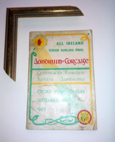 1942 antrim v cork all ireland final programme