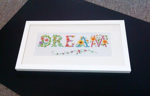 framed bespoke hand made tapestry