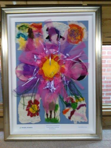 corporate charity framing framed art work