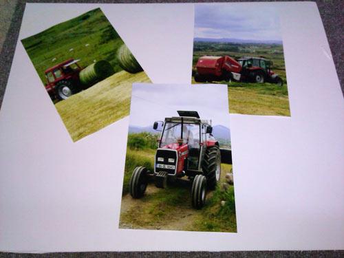 three photos to be framed