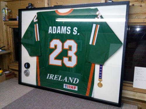 Ireland Ice Hockey framed shirt