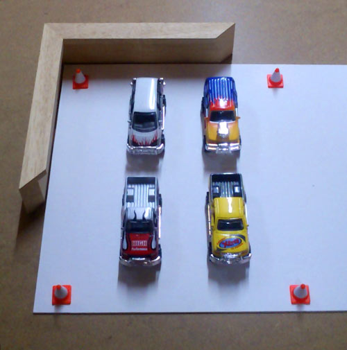 framing a kids toy cars for an 18th birthday present