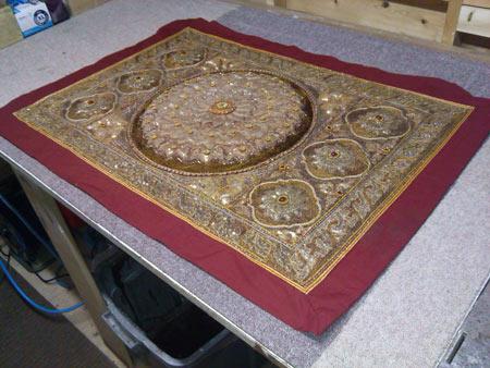 Belfast Framer framing tapestry fabric