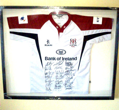 framed signe ulster rugby shirt jersey