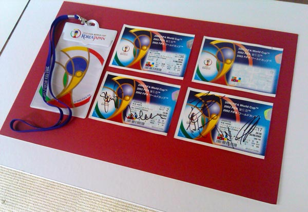 2002 signed World Cup tickets