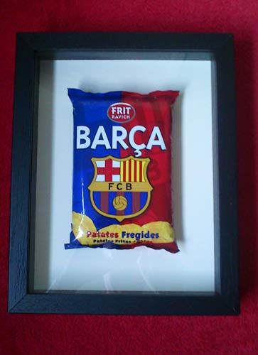 Barcelona framed potato crisps - acorn framing