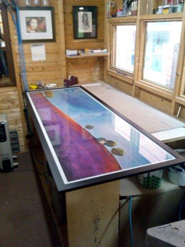 huge oversized finished framed print northern ireland