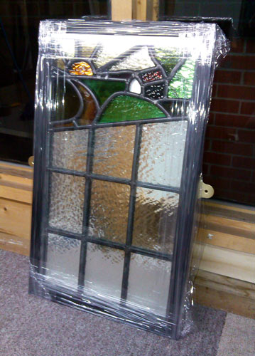 framed stained glass window framing