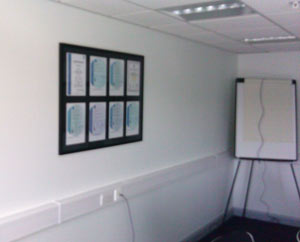 boardroom certificate framing
