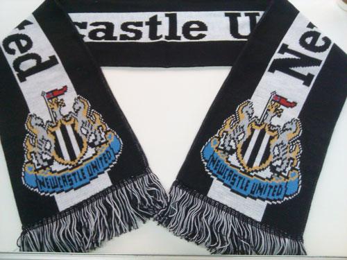 framed soccer football scarf