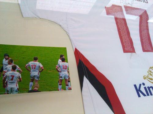 framed ulster rugby shirt