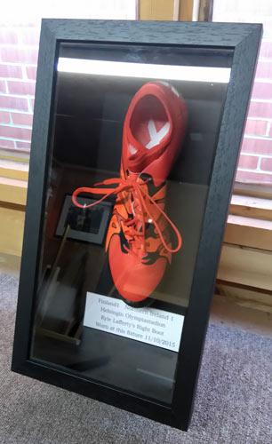 Kyle Lafferty framed boot