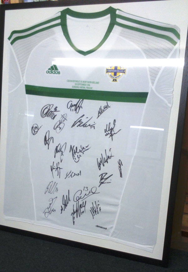 framed northern ireland shirt framing newtownabbey framer