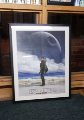 framed star wars rogue one poster memorabilia