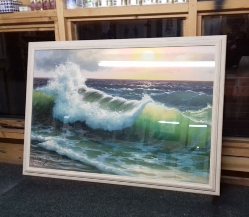 framed large format seascape print